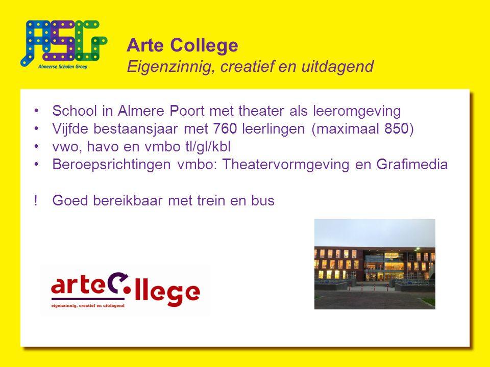 Arte College Eigenzinnig, creatief en uitdagend