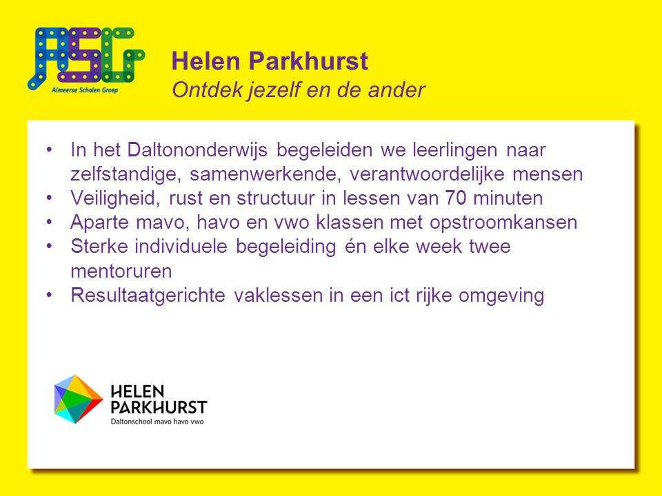 Helen Parkhurst Ontdek jezelf en de ander