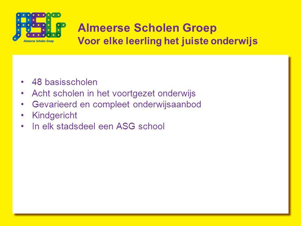 Almeerse Scholen Groep Voor elke leerling het juiste onderwijs
