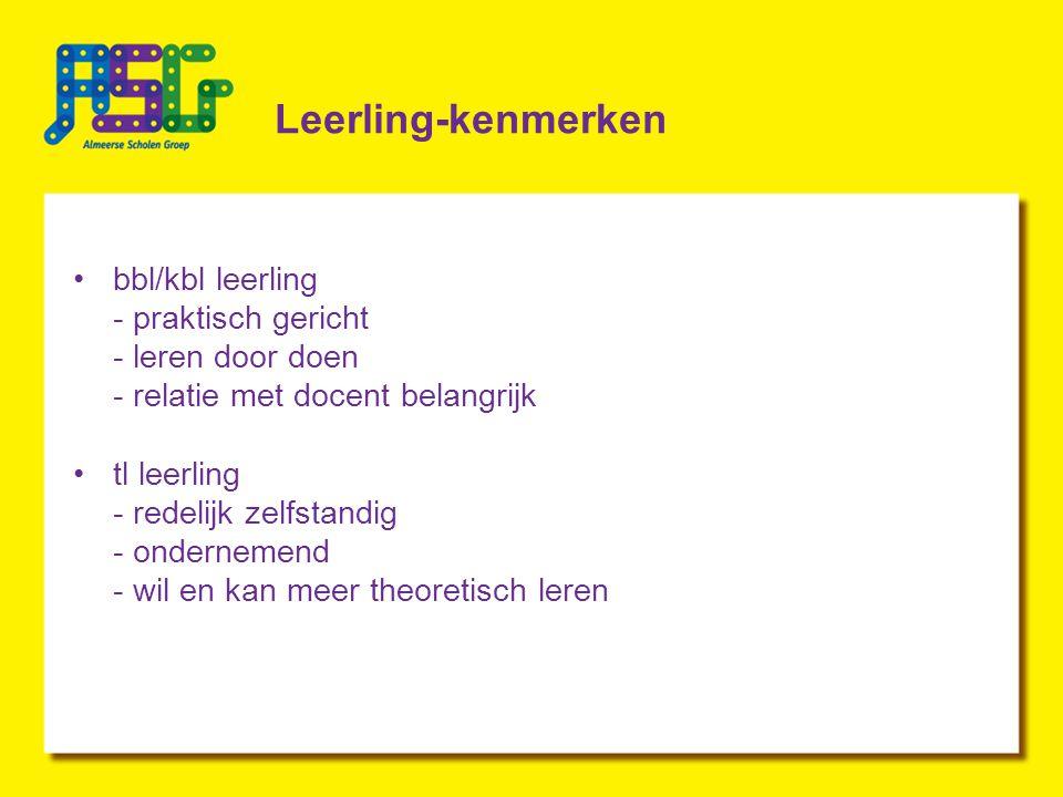 Leerling-kenmerken bbl/kbl leerling - praktisch gericht