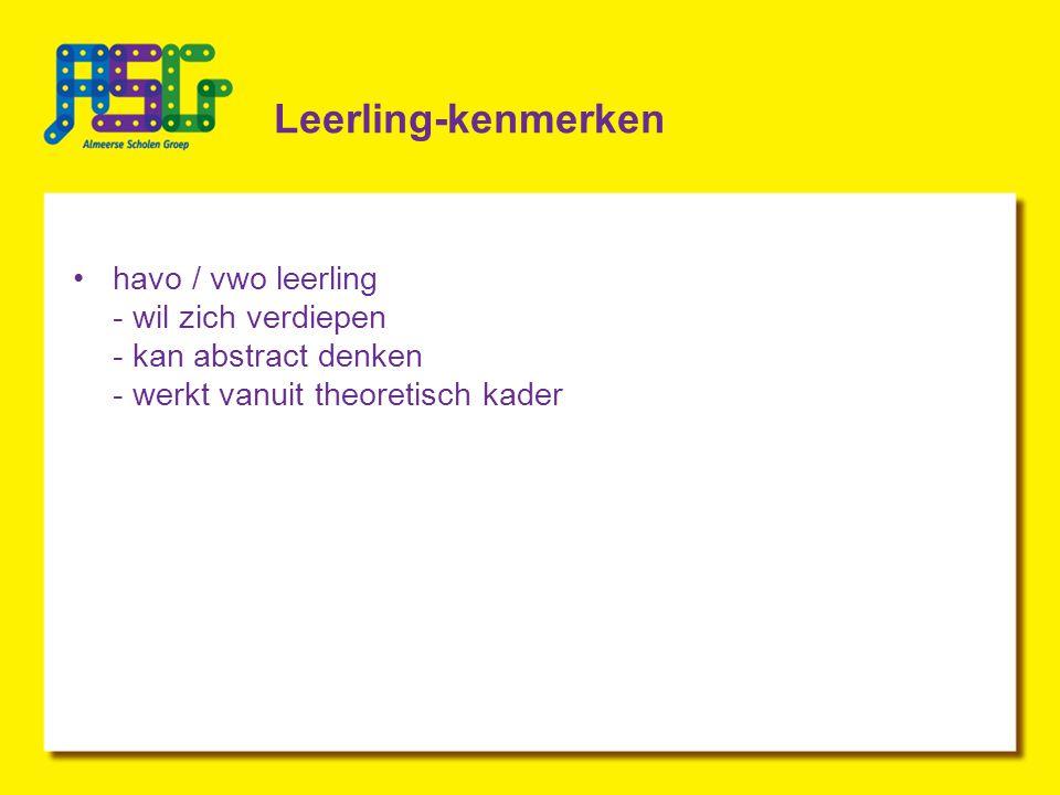Leerling-kenmerken havo / vwo leerling - wil zich verdiepen