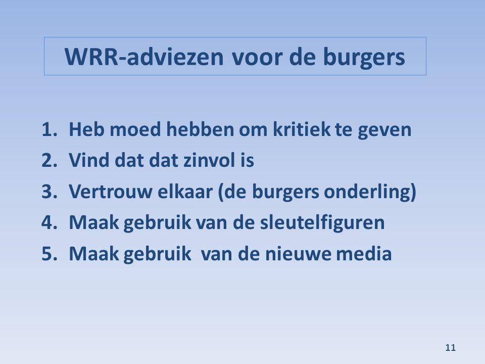 WRR-adviezen voor de burgers