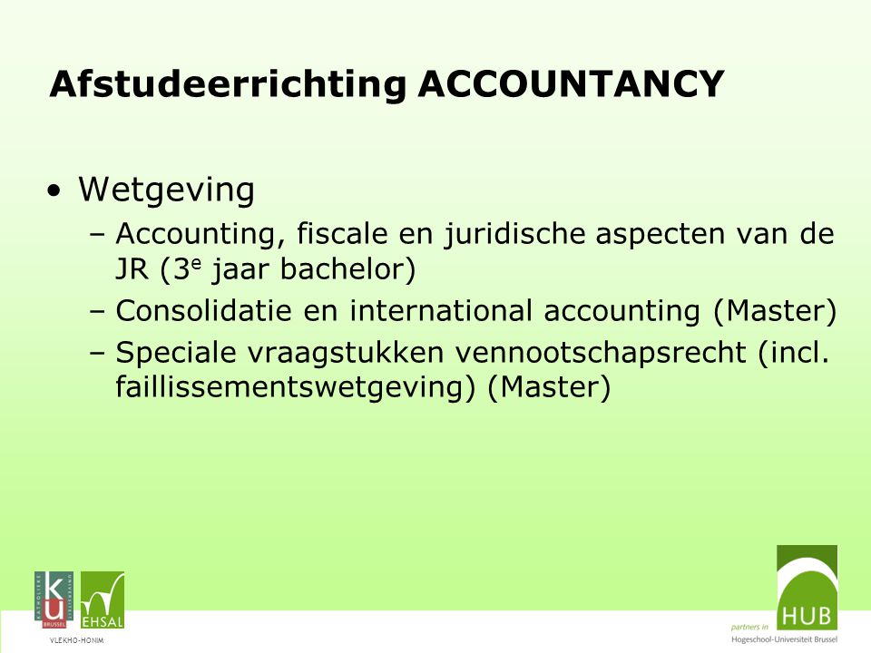 Afstudeerrichting ACCOUNTANCY
