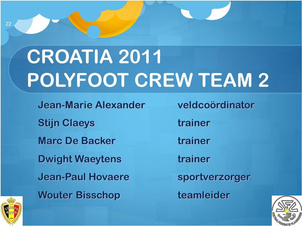 CROATIA 2011 POLYFOOT CREW TEAM 2