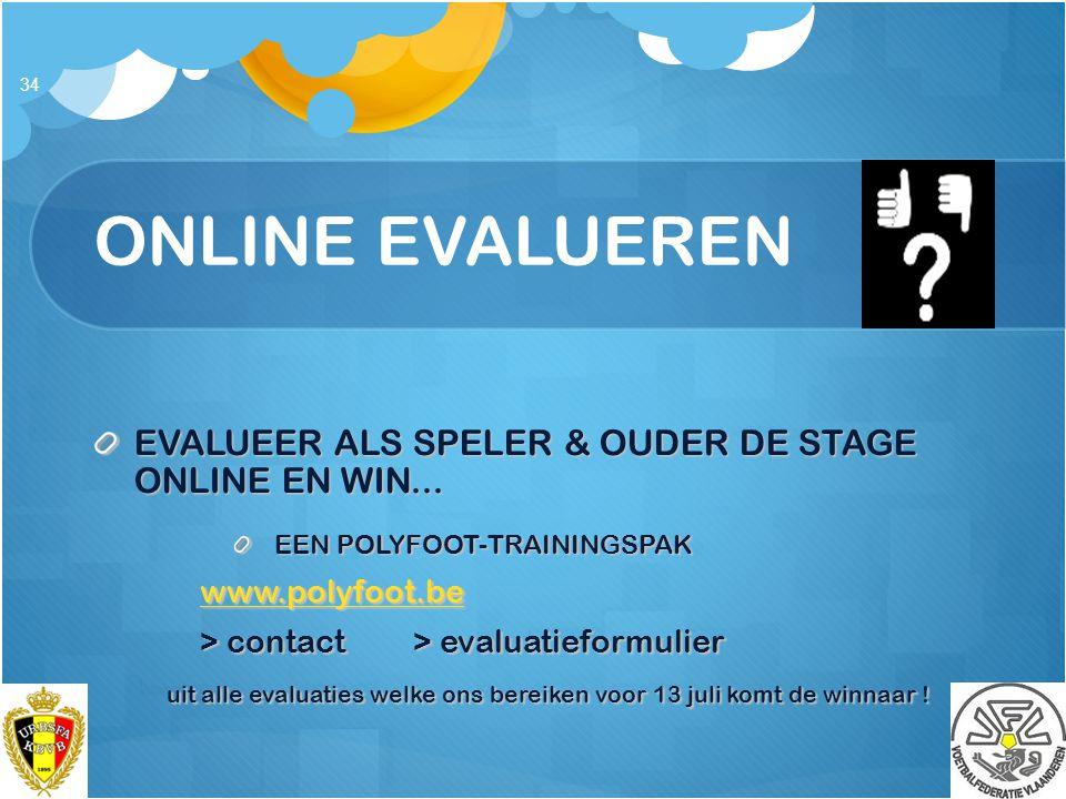 ONLINE EVALUEREN EVALUEER ALS SPELER & OUDER DE STAGE ONLINE EN WIN...
