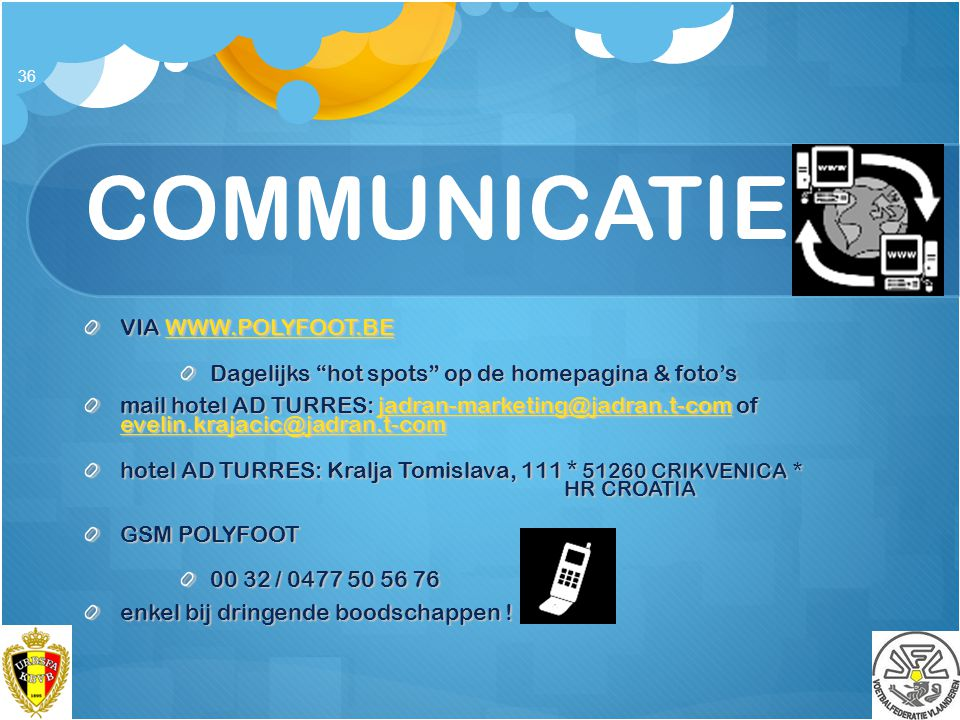 COMMUNICATIE VIA