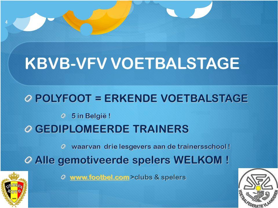 KBVB-VFV VOETBALSTAGE