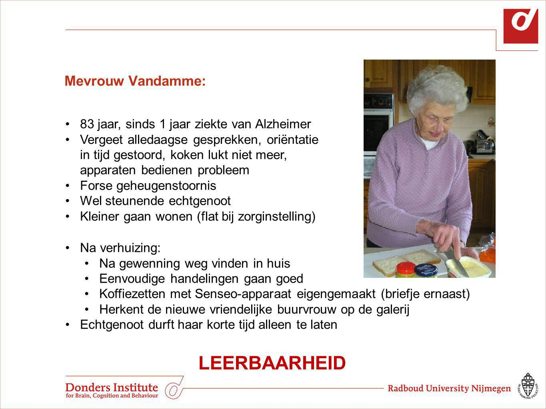 LEERBAARHEID Mevrouw Vandamme: