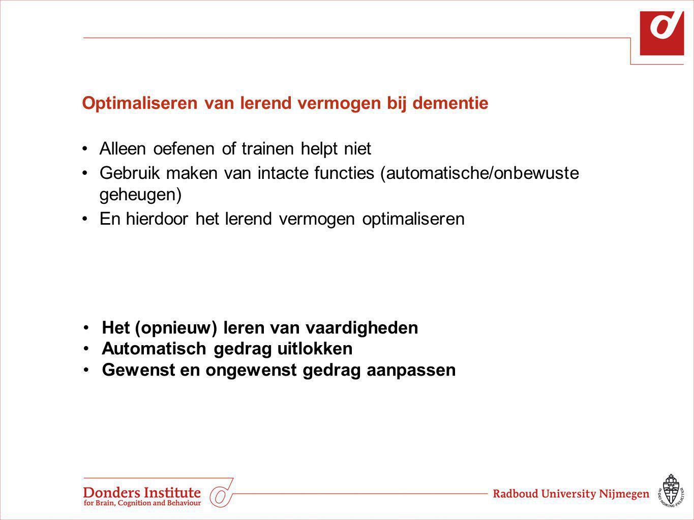 Optimaliseren van lerend vermogen bij dementie