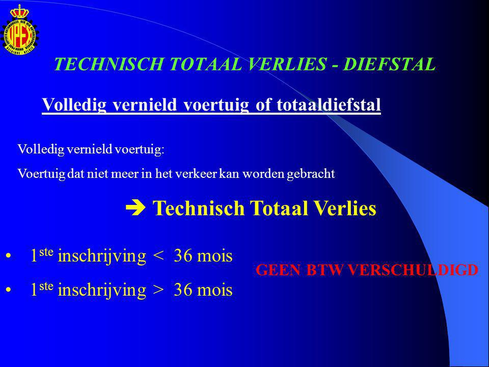 TECHNISCH TOTAAL VERLIES - DIEFSTAL