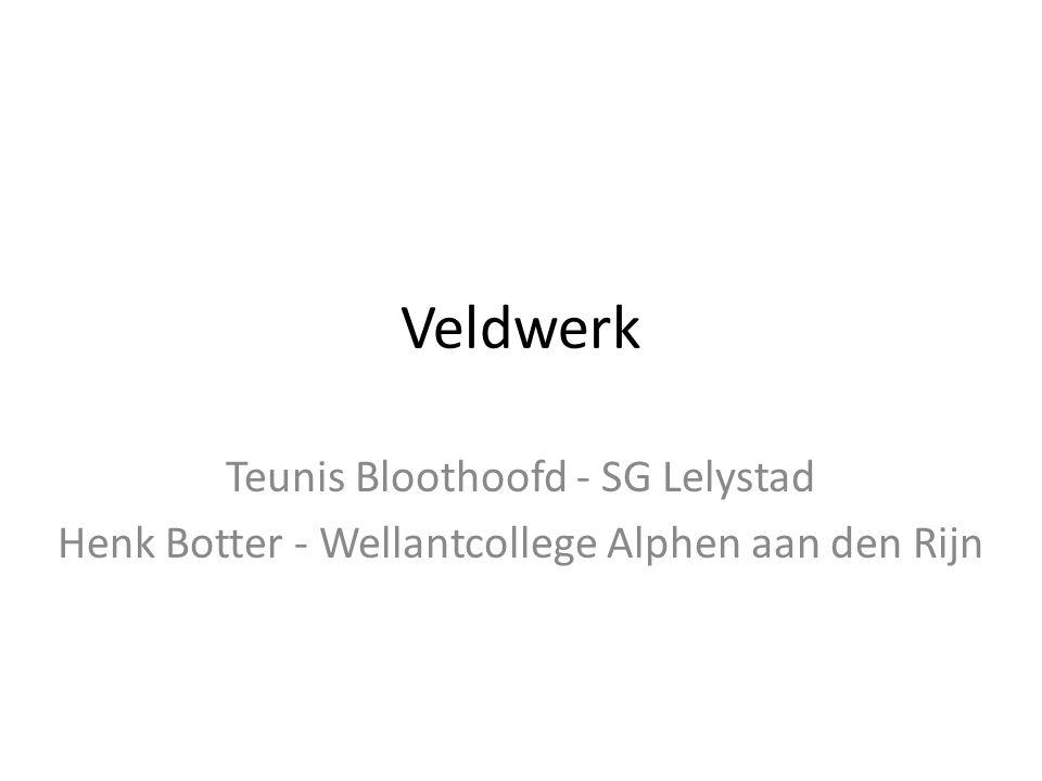 Veldwerk Teunis Bloothoofd - SG Lelystad