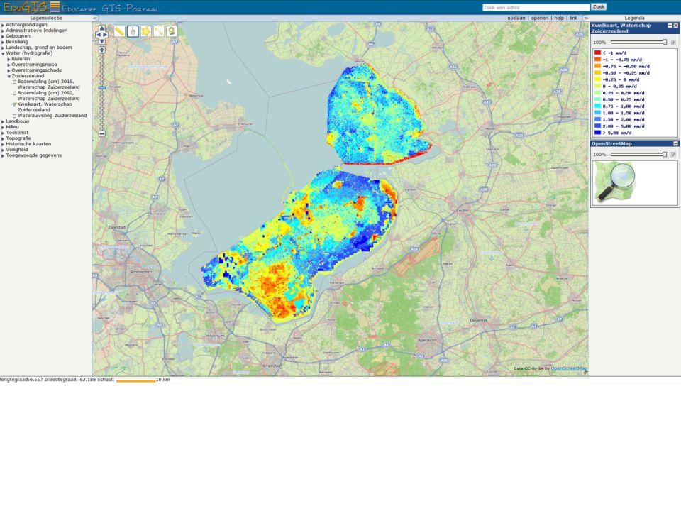 EduGIS - voorbereiding op veldwerk met bijv. kwelkaart van Flevoland