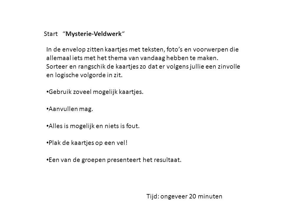 Start Mysterie-Veldwerk