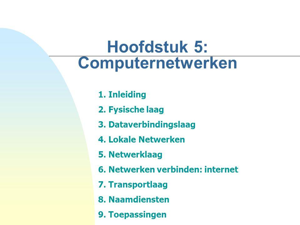 Hoofdstuk 5: Computernetwerken