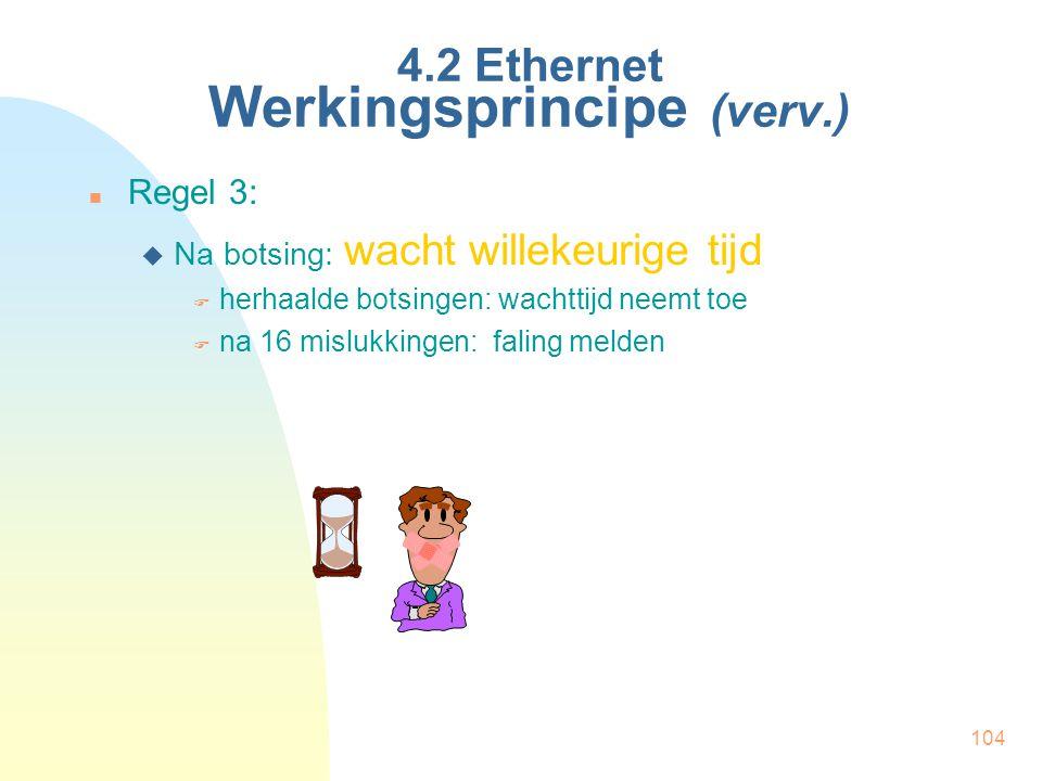 4.2 Ethernet Werkingsprincipe (verv.)