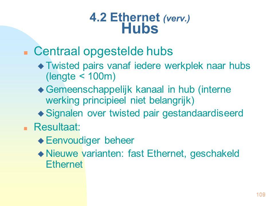 Centraal opgestelde hubs