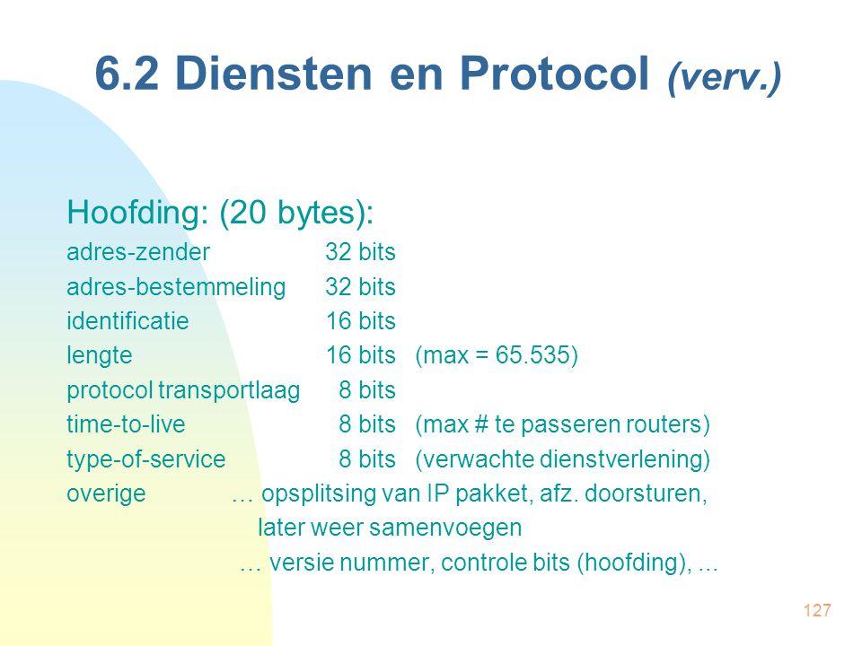 6.2 Diensten en Protocol (verv.)