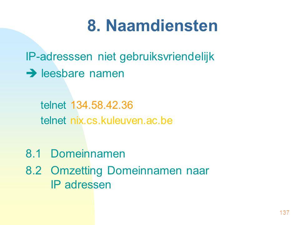 8. Naamdiensten IP-adresssen niet gebruiksvriendelijk  leesbare namen