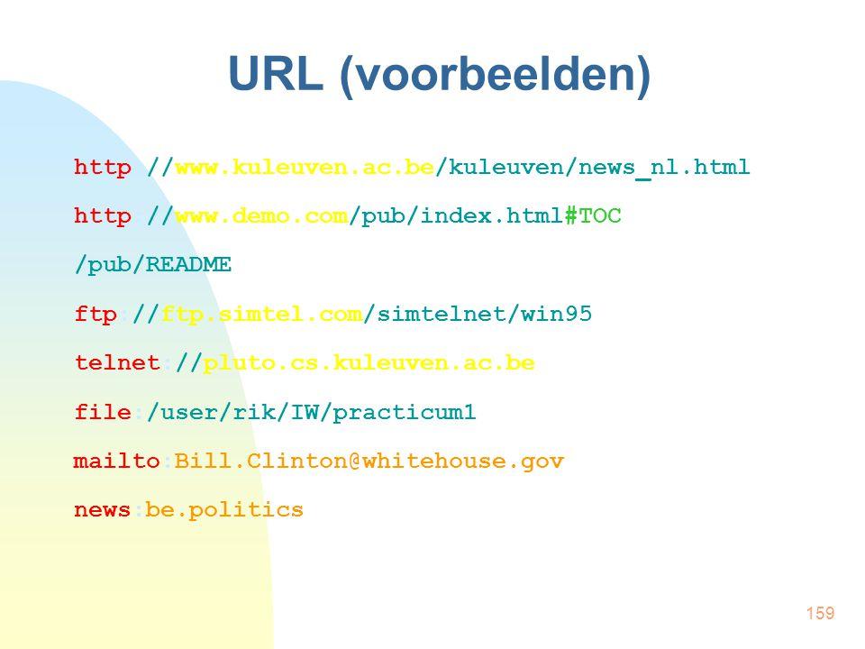 URL (voorbeelden) http://www.kuleuven.ac.be/kuleuven/news_nl.html
