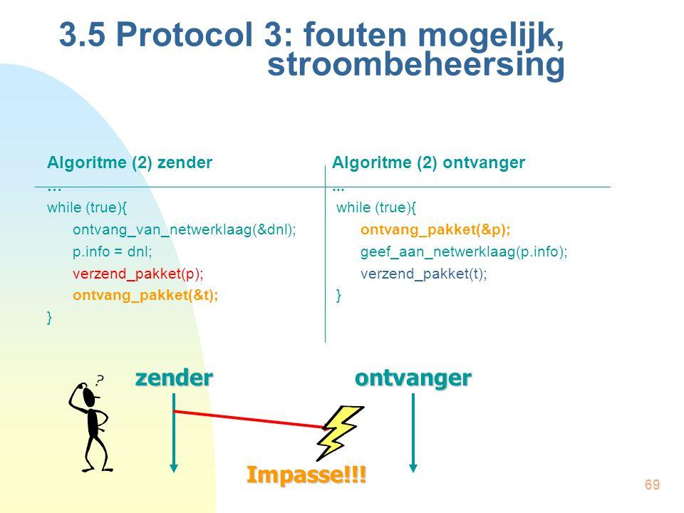 3.5 Protocol 3: fouten mogelijk, stroombeheersing