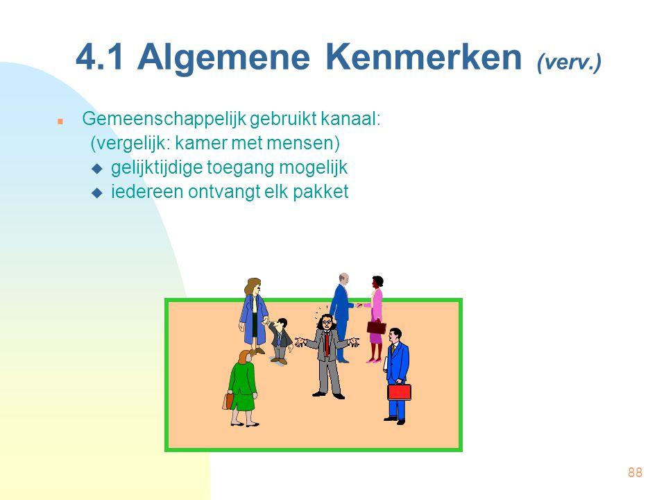 4.1 Algemene Kenmerken (verv.)