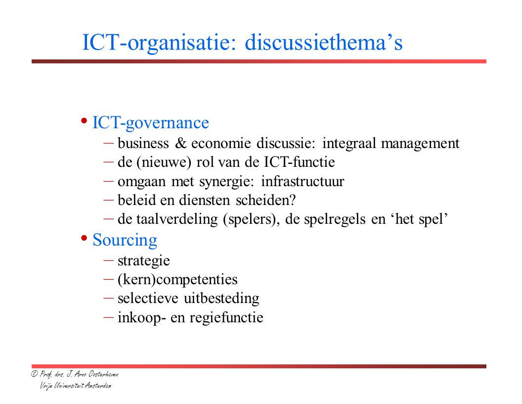 ICT-organisatie: discussiethema's