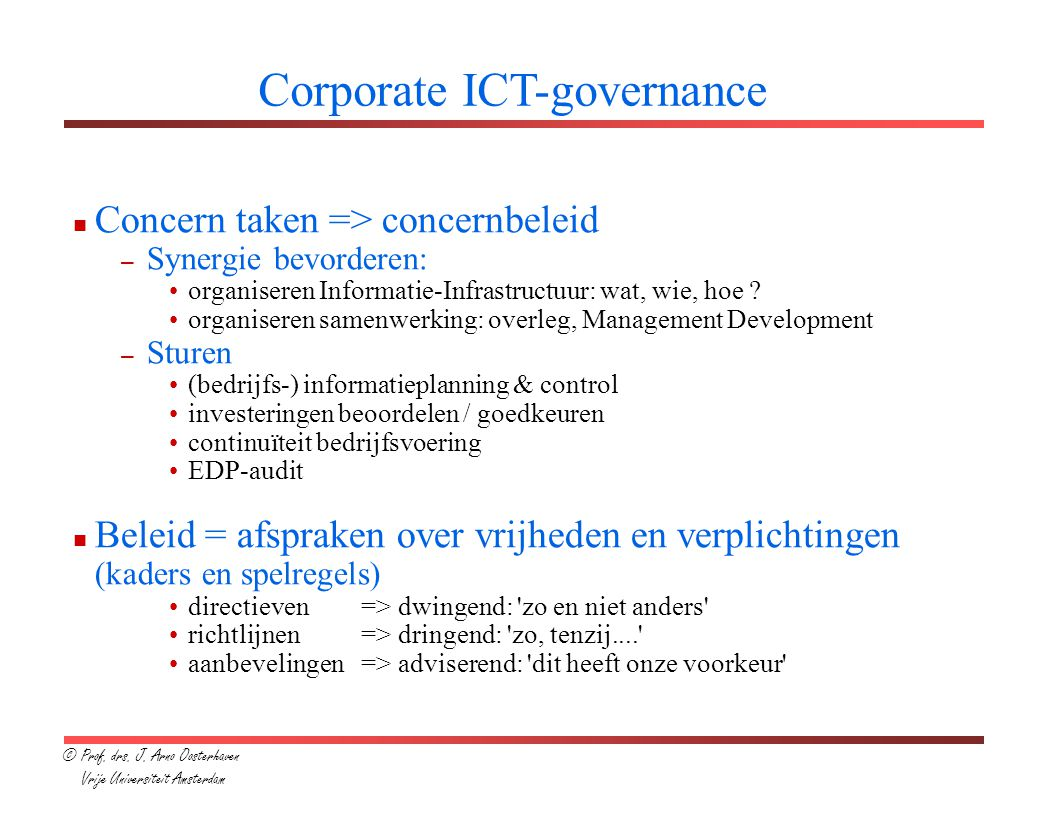 Corporate ICT-governance