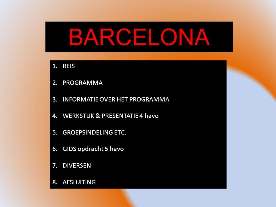 BARCELONA REIS PROGRAMMA INFORMATIE OVER HET PROGRAMMA
