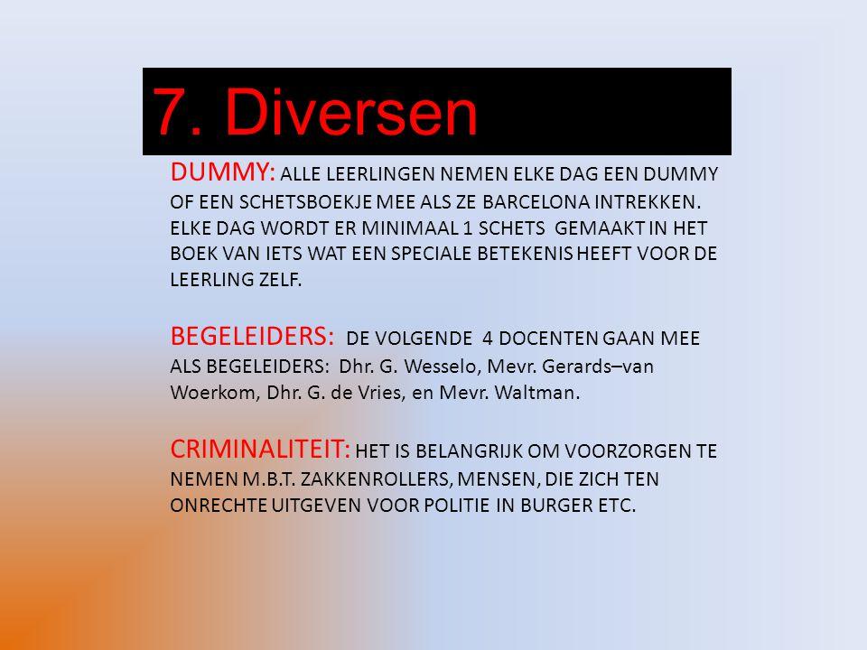 7. Diversen