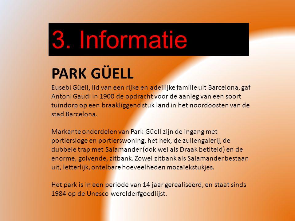 3. Informatie PARK GÜELL.