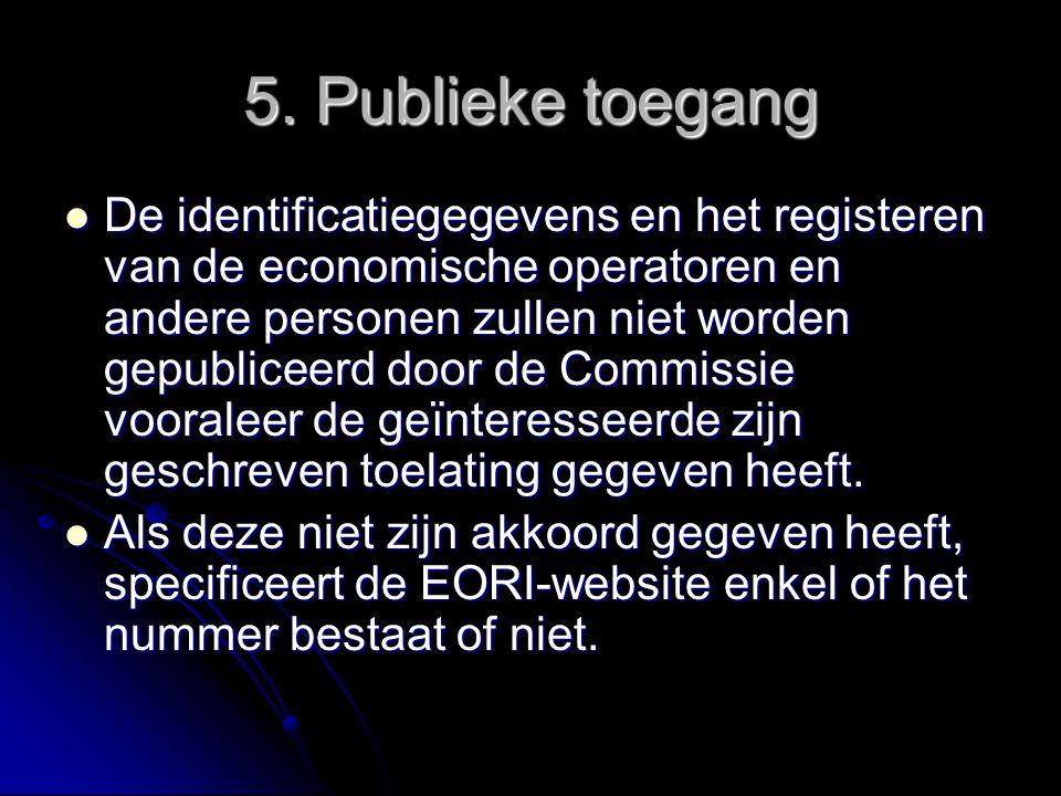 5. Publieke toegang