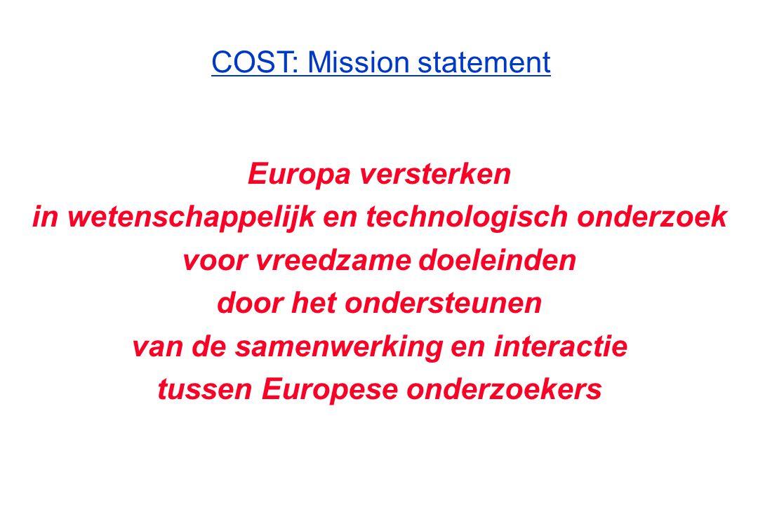 COST: Mission statement
