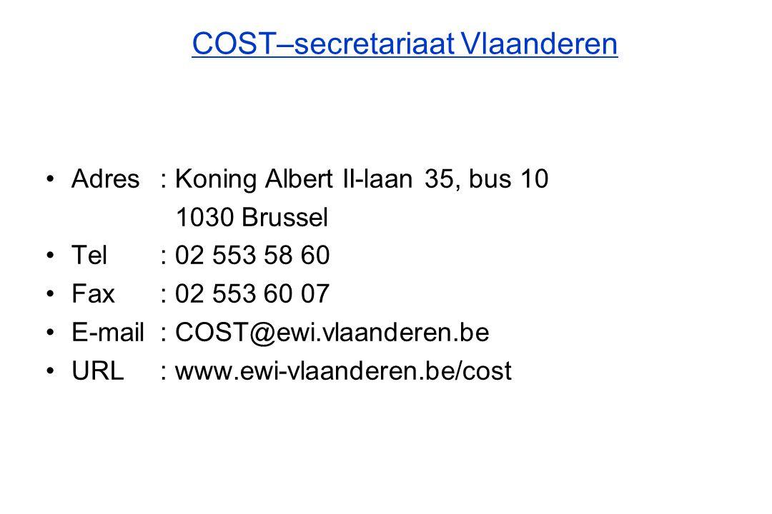 COST–secretariaat Vlaanderen