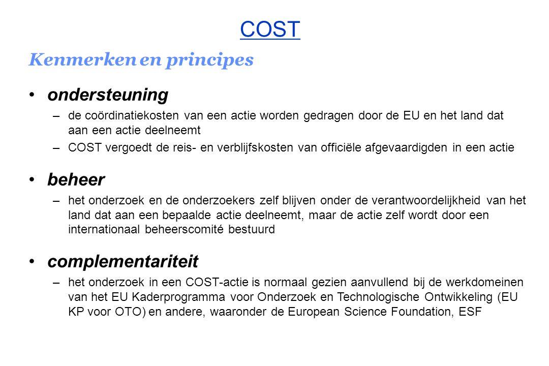 COST Kenmerken en principes ondersteuning beheer complementariteit