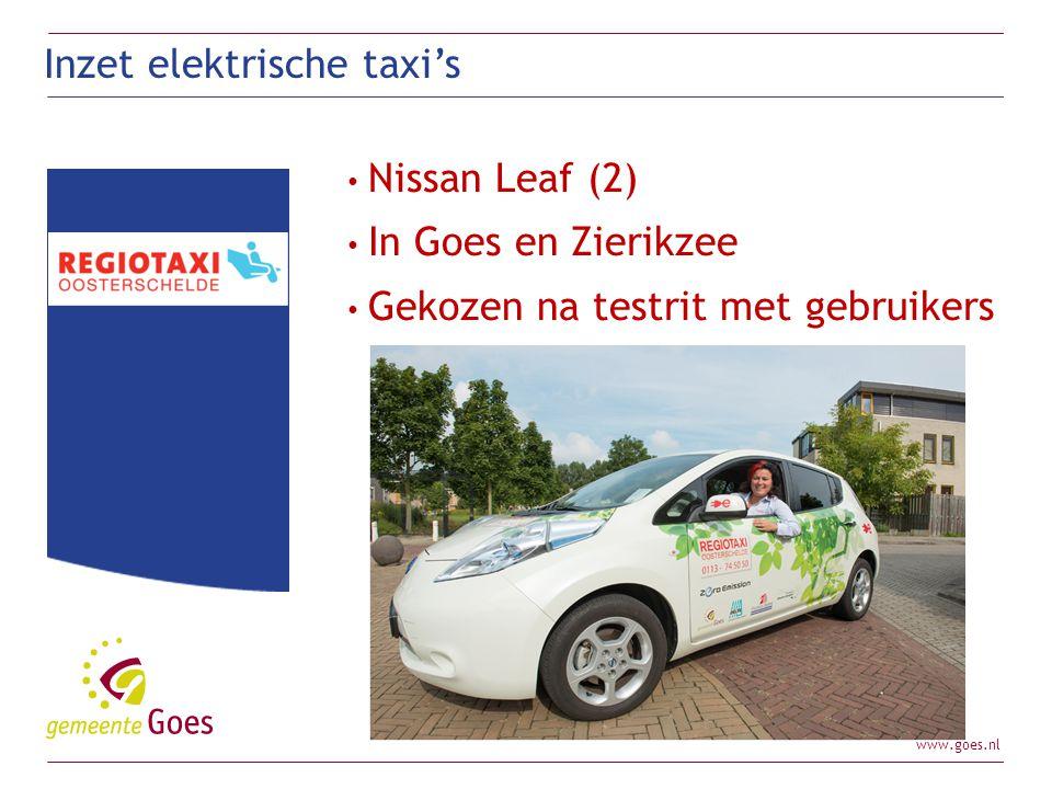 Inzet elektrische taxi's