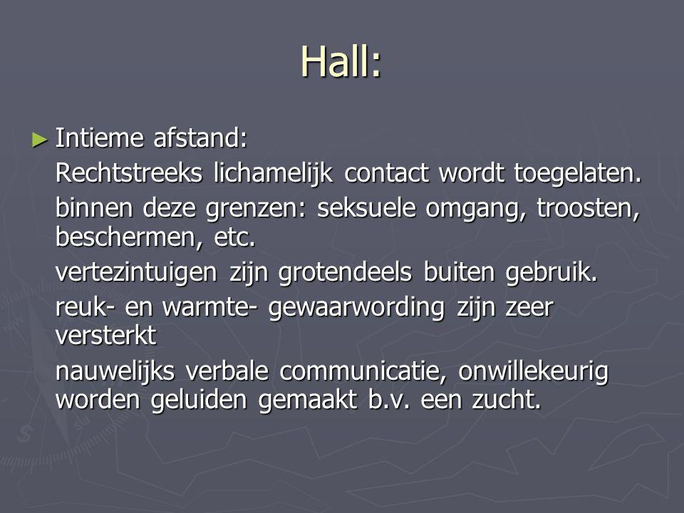 Hall: Intieme afstand:
