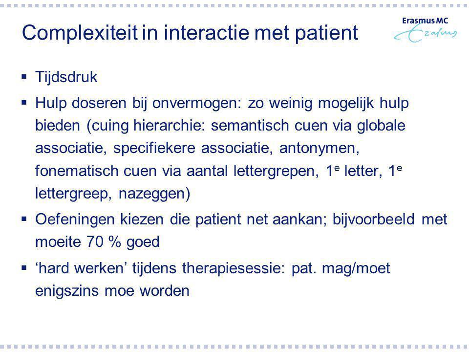 Complexiteit in interactie met patient
