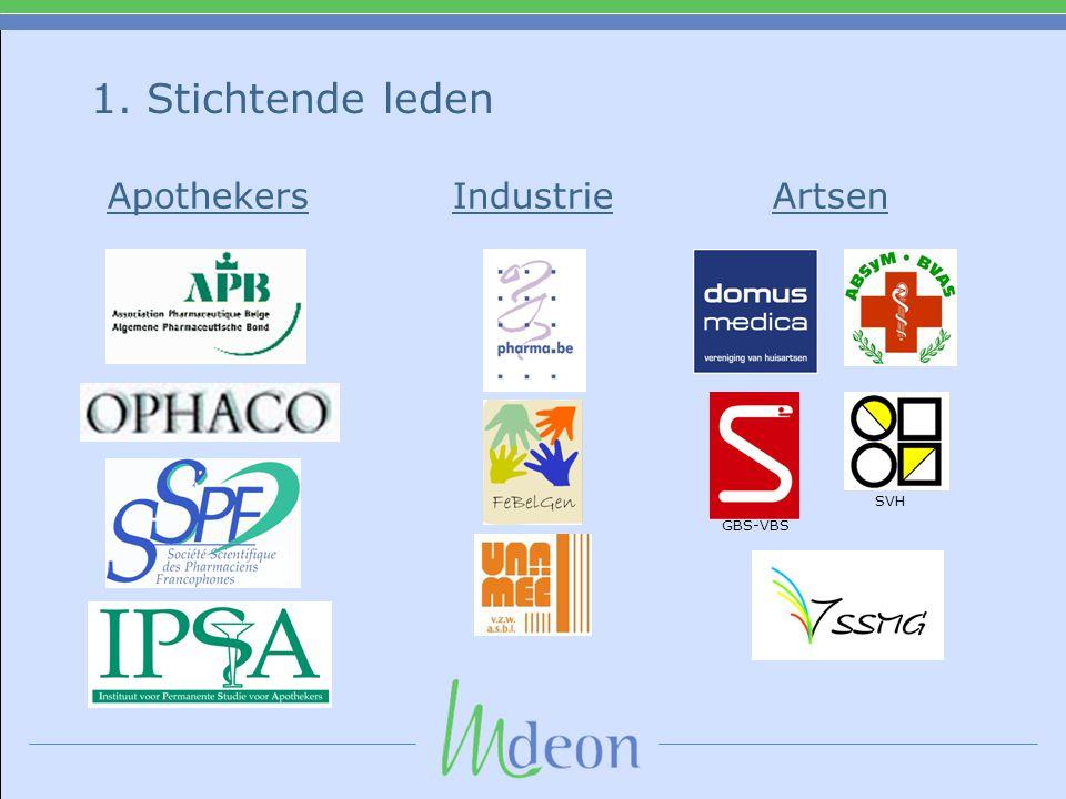 1. Stichtende leden Apothekers Industrie Artsen SVH GBS-VBS