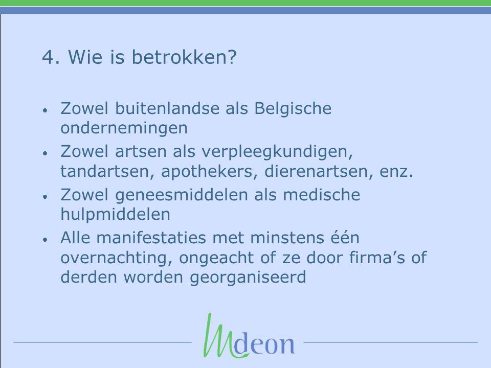 4. Wie is betrokken Zowel buitenlandse als Belgische ondernemingen