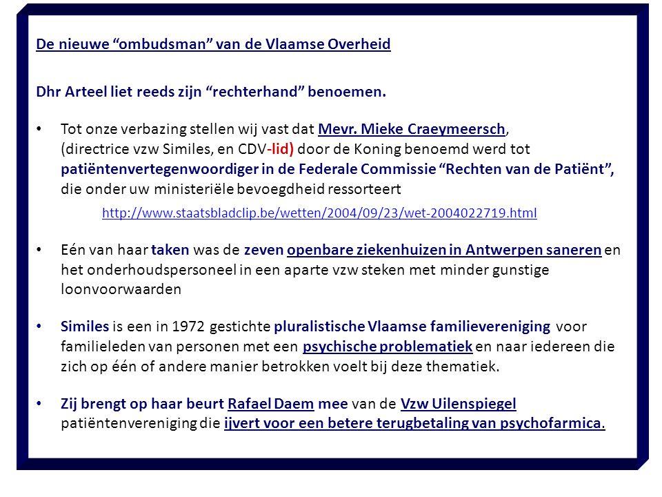 De nieuwe ombudsman van de Vlaamse Overheid