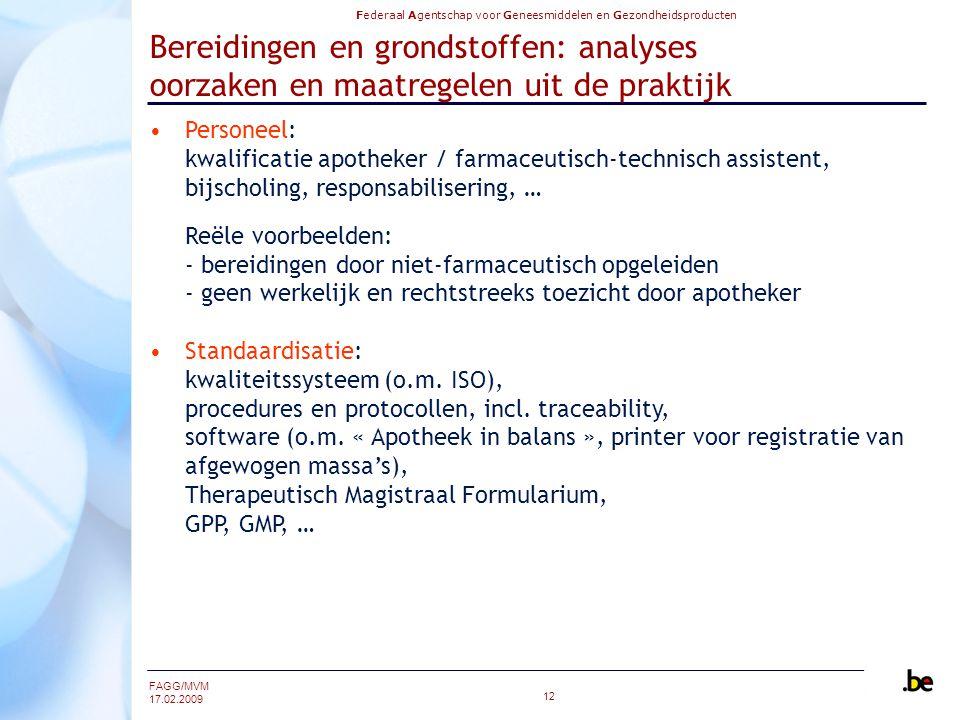 Bereidingen en grondstoffen: analyses