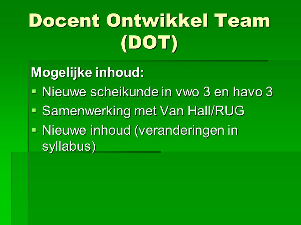 Docent Ontwikkel Team (DOT)