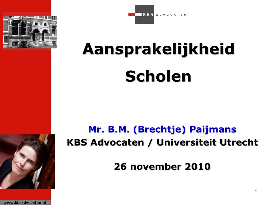 Mr. B.M. (Brechtje) Paijmans KBS Advocaten / Universiteit Utrecht