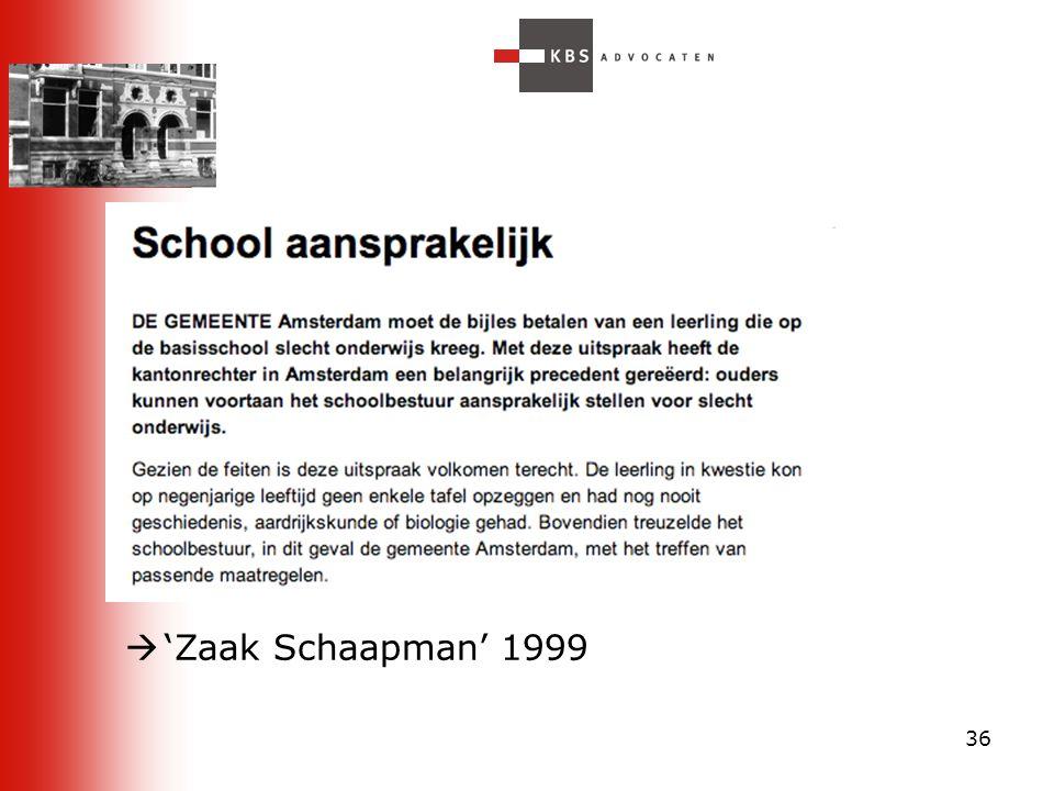 'Zaak Schaapman' 1999 36 36
