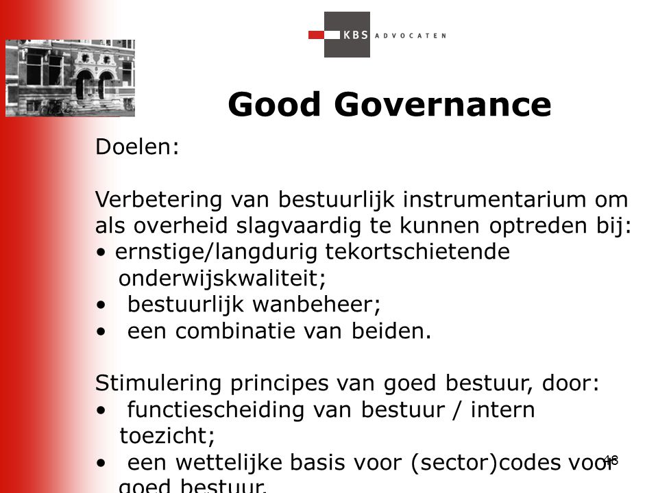 Good Governance Doelen: