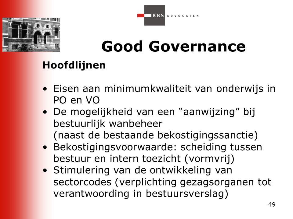 Good Governance Hoofdlijnen