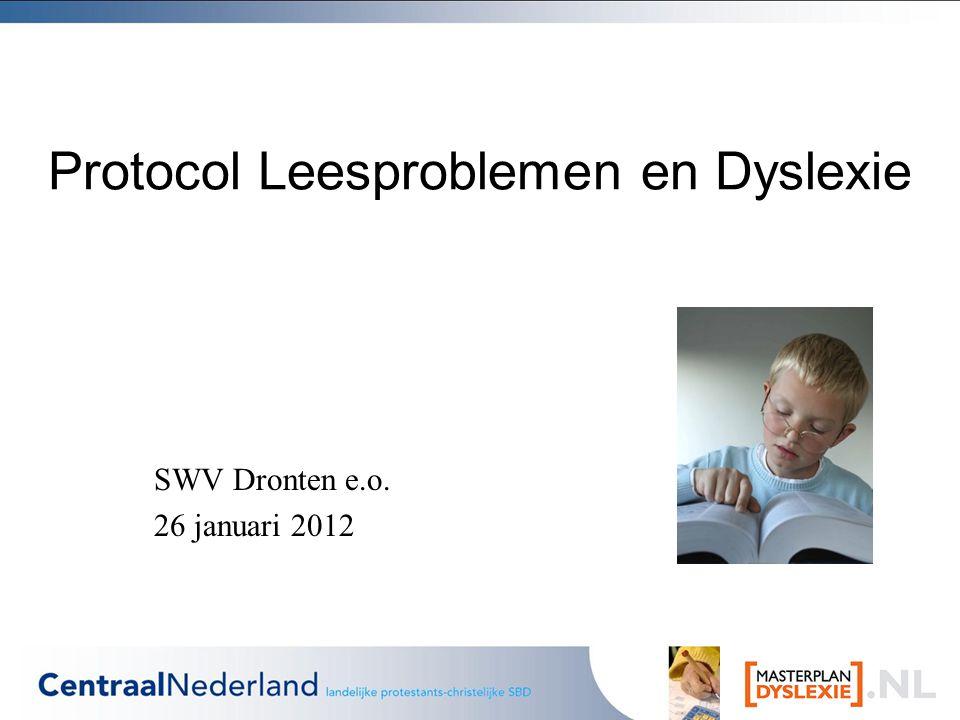 Protocol Leesproblemen en Dyslexie
