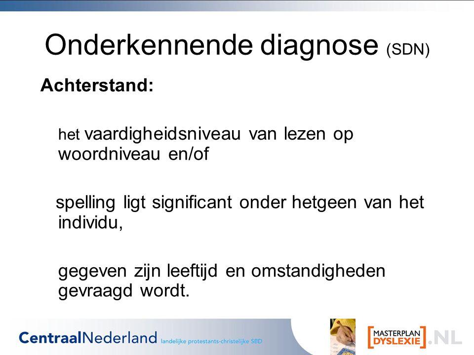 Onderkennende diagnose (SDN)