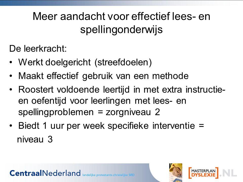 Meer aandacht voor effectief lees- en spellingonderwijs