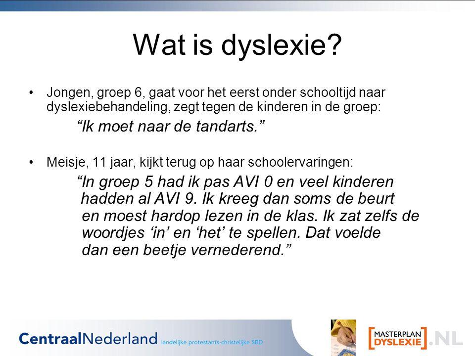 Wat is dyslexie Ik moet naar de tandarts.